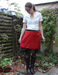 Self-Drafted A-Line Skirt